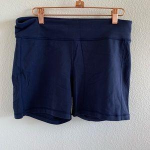 Athleta Blue Active Tights Shorts   Large